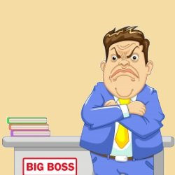 Angry boss cartoon