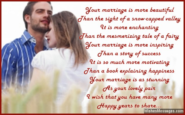 Beauiful poem to wish a couple happy anniversary