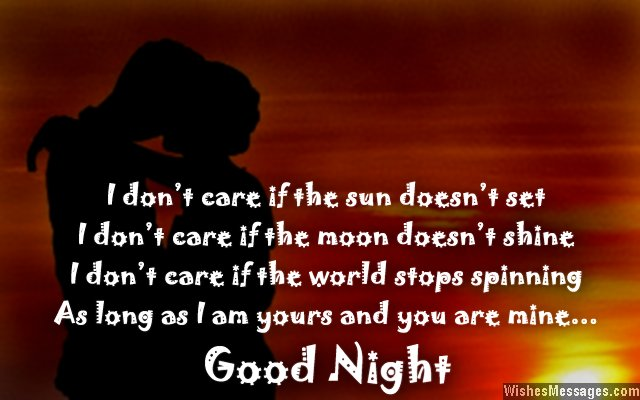 16  I don t care if the sun Romantic Good Night Quotes For Her
