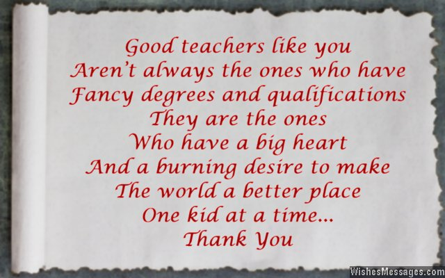 Beautiful quote about good teachers