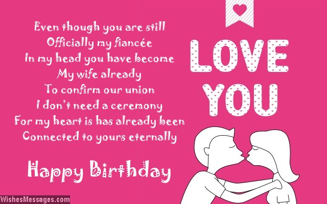 Cute birthday poem for fiancee
