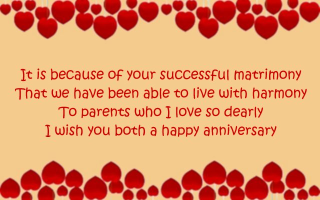 Happy anniversary card message to mom and dad