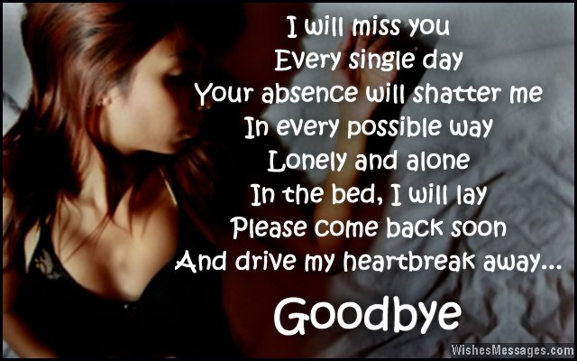 Heartbreaking goodbye message for love