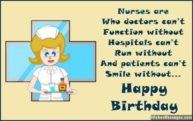 Birthday wishes for nurses inspirational birthday messages motivational birthday greeting message for nurses m4hsunfo