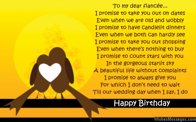 Birthday Poems For Fiancee Wishesmessages