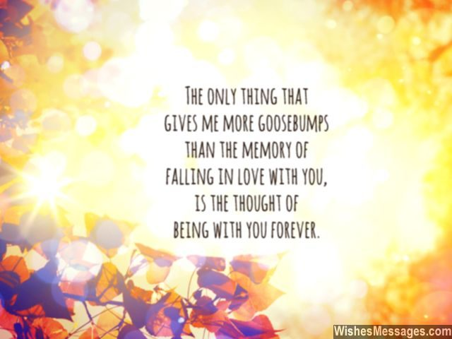 Romantic quote falling in love being with you forever