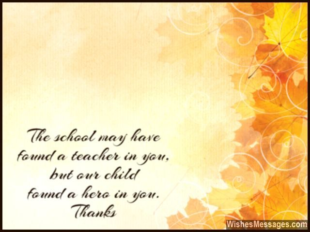 Thank You Messages To Teachers From Parents Notes And Quotes Wishesmessages Com