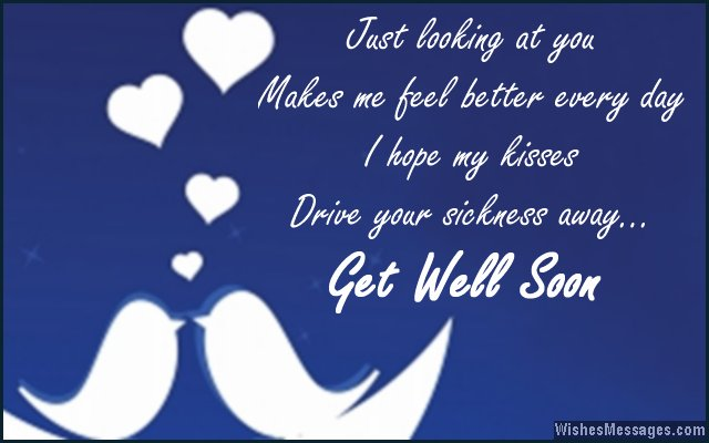 Sweet get well soon message for girlfriend