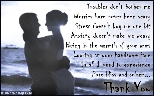 Thank You Poems For Husband Wishesmessagescom
