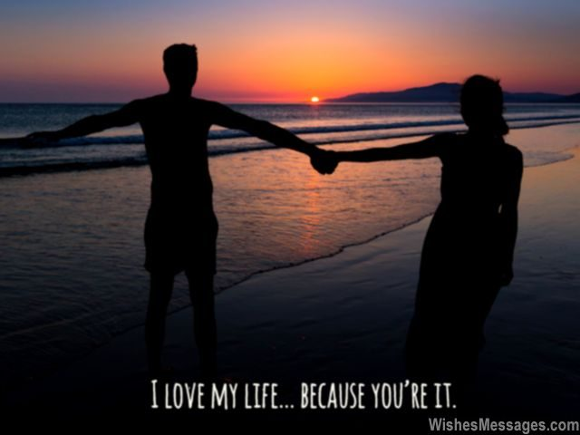 You are my life sweet quote for her romantic couple