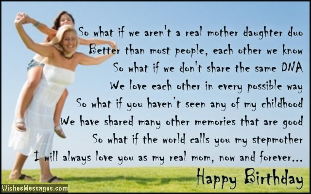 Beautiful birthday card poem to stepmom from daughter