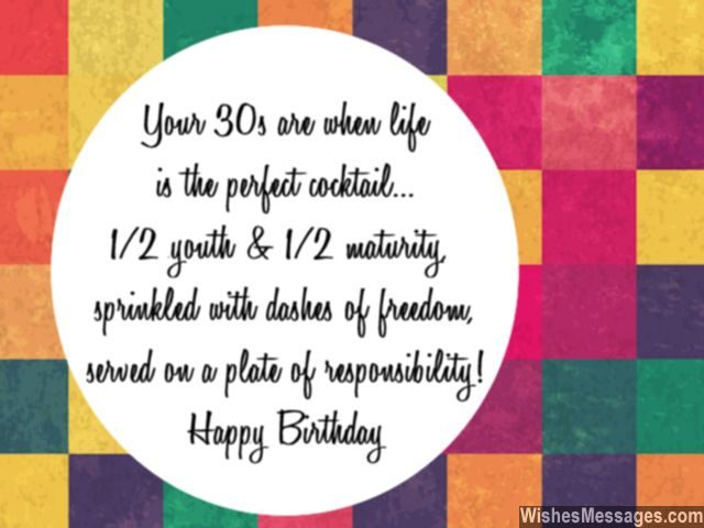 Birthday wishes quote for turning thirty five or in thirties
