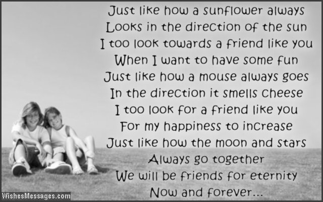 thank you poems for friends friendship poems wishesmessages com