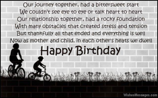 Cute birthday poem message for stepmom