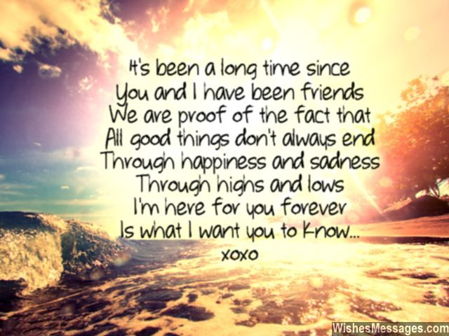 Friendship Poem For Best Friend To Say Thanks Hugs And Kisses