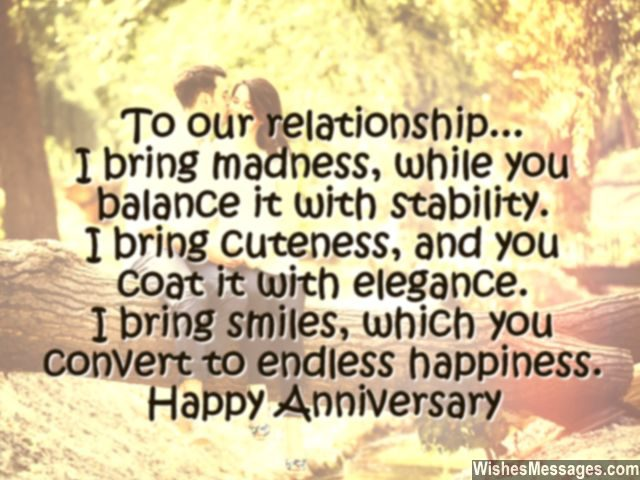 Happy anniversary card message for him husband wife