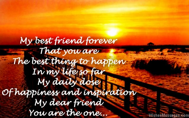 Thank You Poems For Friends Friendship Poems Wishesmessagescom