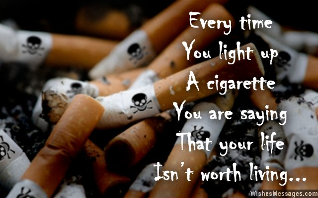 Inspirational quote for smokers to quit smoking