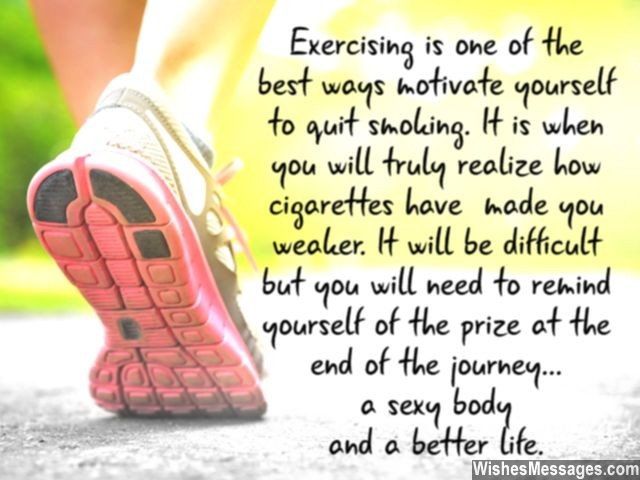 Quit smoking inspiration with exercise and working out