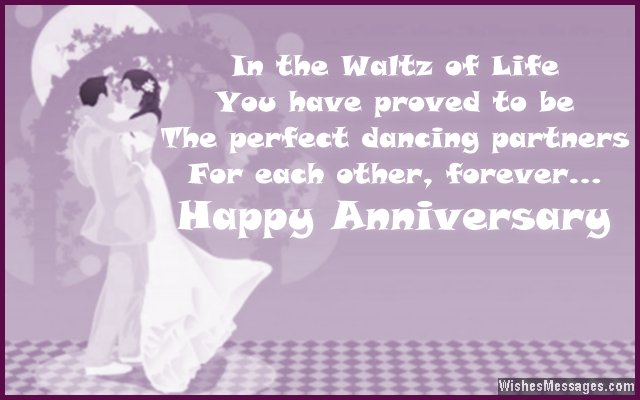 Sweet anniversary greeting card message for couples