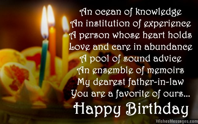 Sweet birthday wishes for father-in-law