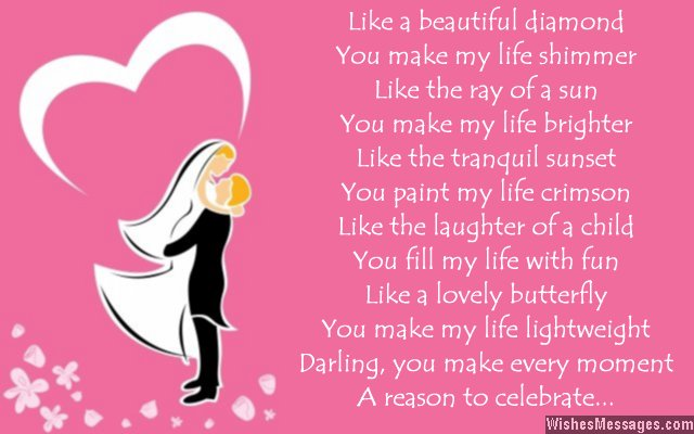 Sweet love poem to say thank you to wife