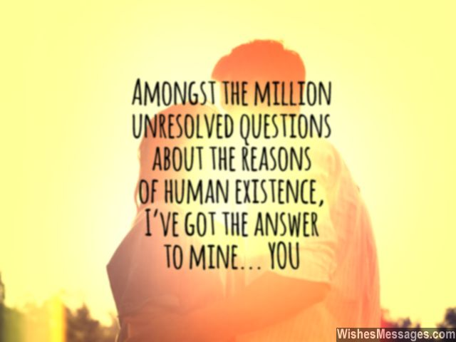 Sweet love quote for him you are my lifes everything baby