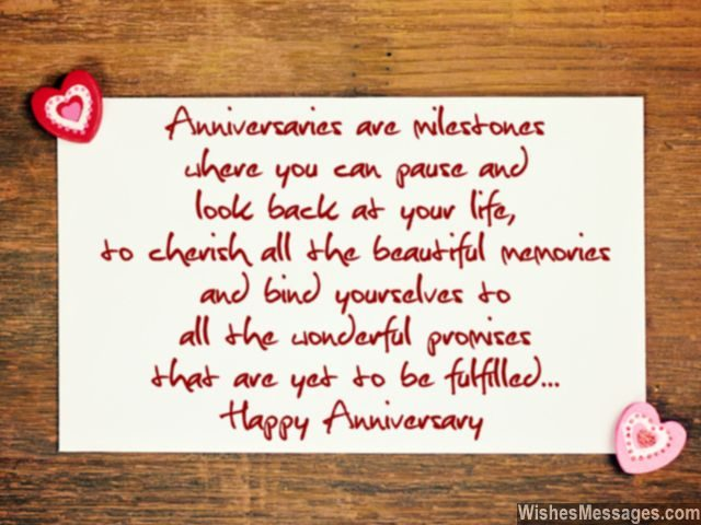 Wedding Anniversary Wishes Beautiful Memories Promises Couples