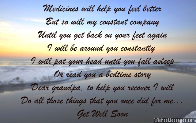 Beautiful get well soon wishes for grandfather