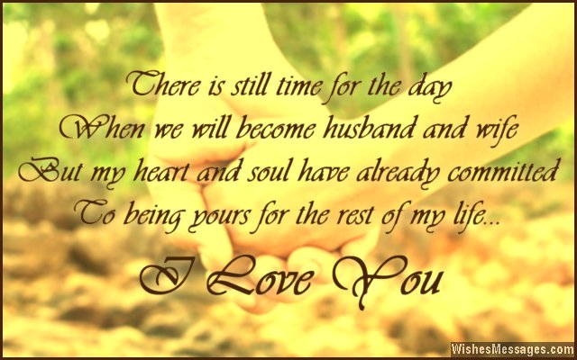 I Love You Messages For Fiancé Quotes For Him Wishesmessagescom