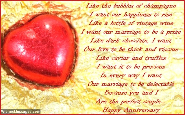 Cute 1st Anniversary Poem For Husband After Wedding
