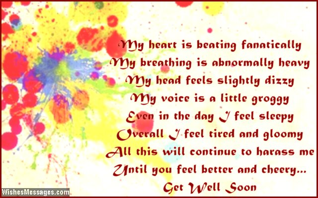 Get Well Soon Poems for Boyfriend – WishesMessages com
