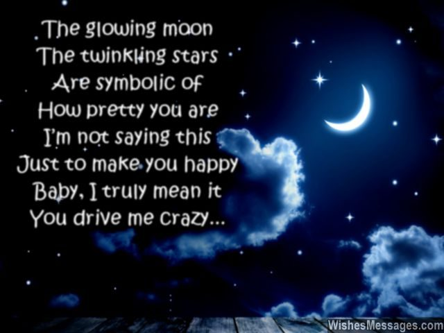Good night poem for her crazy about you