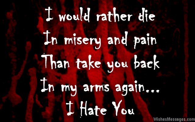 I Hate You Messages For Ex Girlfriend Hate You Quotes For Her
