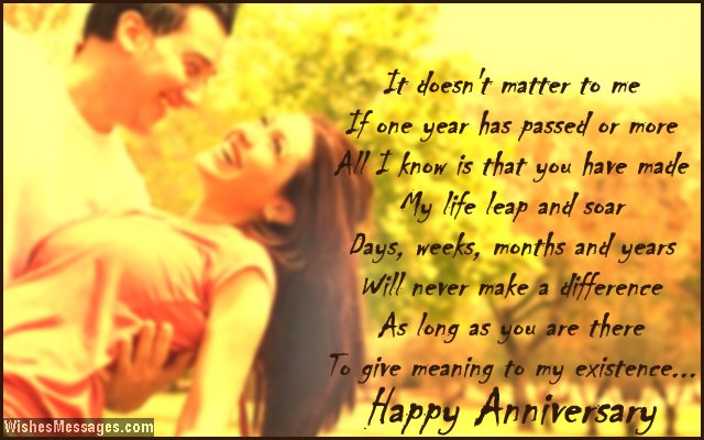 First Anniversary Poems for Husband: Happy 1st Anniversary ...
