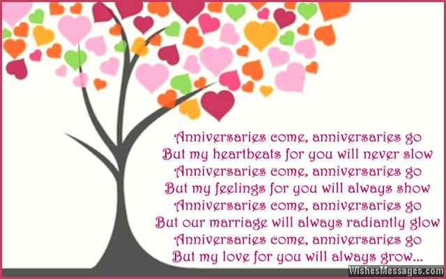 Cute 1st anniversary card poem for wife