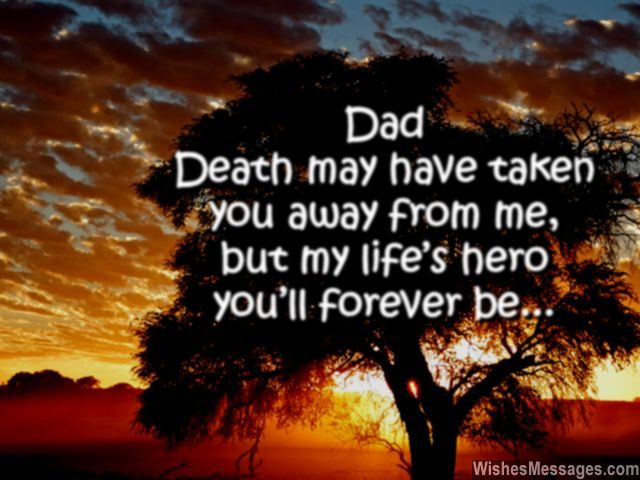 I miss my dad my life's hero after death