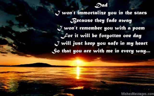 Missing you message to dad from son or daughter