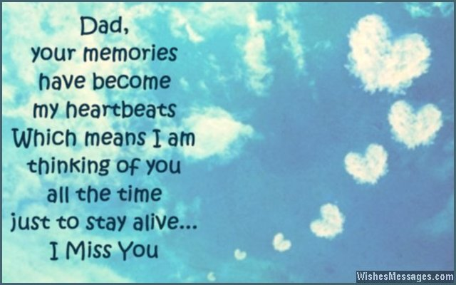 Sad missing you quote for dad after he passed away