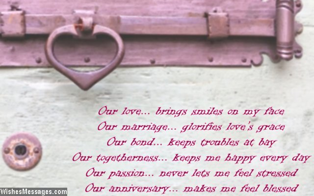 Sweet anniversary poem wishes for her