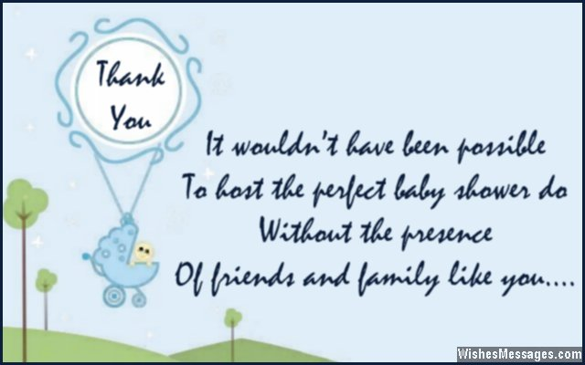 Baby shower gifts thank you quote