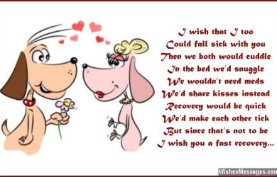 Cute get well soon poem for love