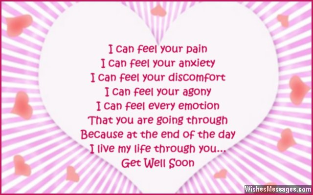 Get Well Soon Poems For Girlfriend Wishesmessagescom
