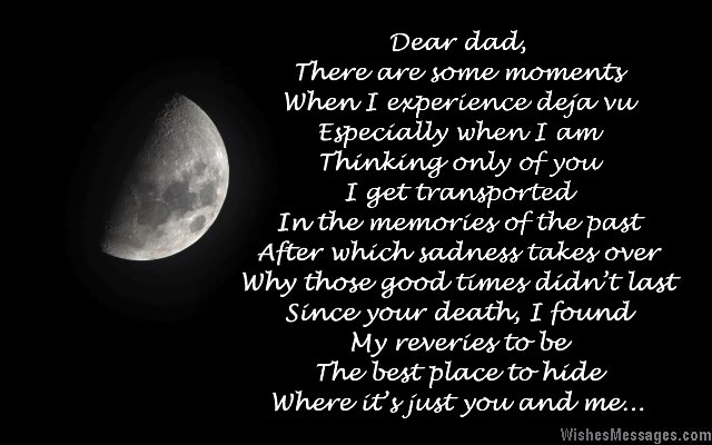 Poem in dad's memory after death