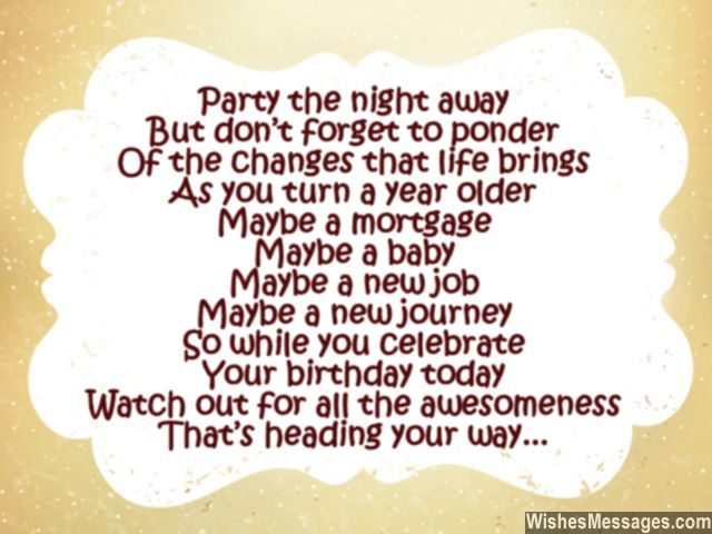 30 cute bithday poem turning thirty years old