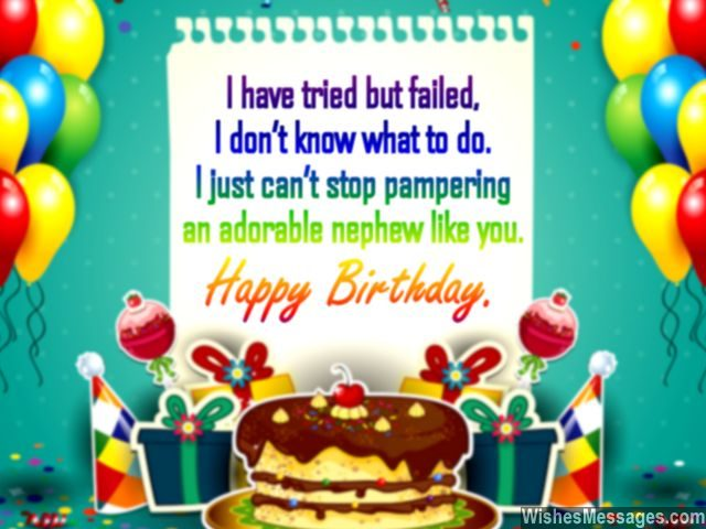 Birthday Wishes For Nephew Quotes And Messages Wishesmessages