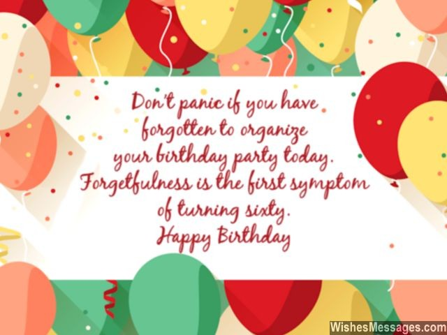 Birthday Card For 60 Year Old Man Or Woman Forgetfulness