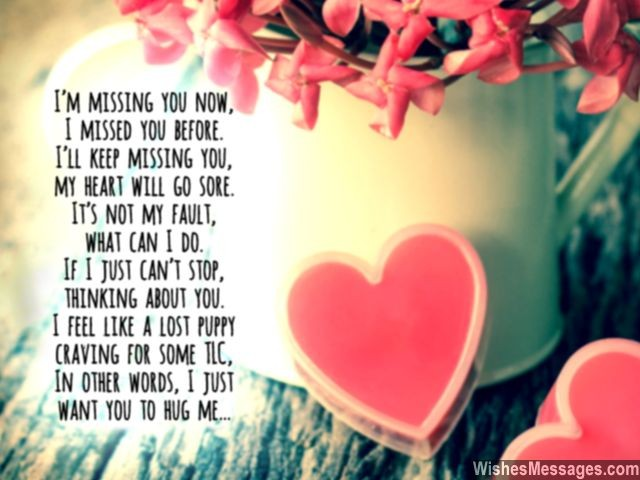 Cute missing you poem for her xoxo cant stop thinking you