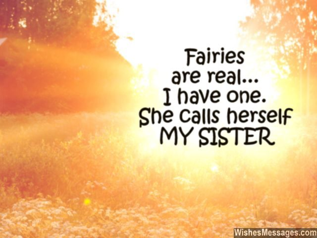 Cute quote about sisters fairy angel in your life