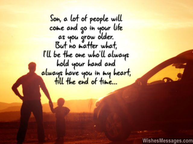 Son I will always hold your hand heart quote from mom dad